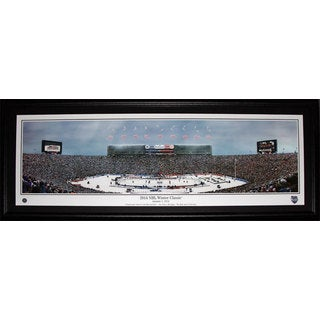 2014 Winter Classic Ann Arbour Big House Toronto Maple Leafs Detroit Red Wings Panorama Frame