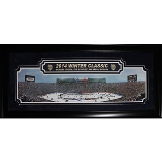 2014 Winter Classic Ann Arbour Big House Toronto Maple Leafs Detroit Red Wings Deluxe Panorama Frame