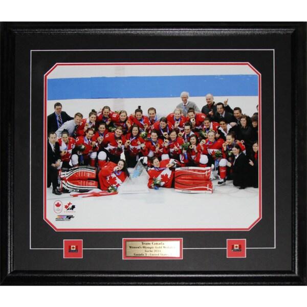 2014 Team Canada Womens Hockey Gold Medal Sochi 16x20-inch Frame