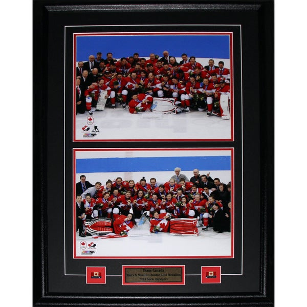 2014 Team Canada Men and Women Gold Medal Sochi 11x14 2-photo Frame