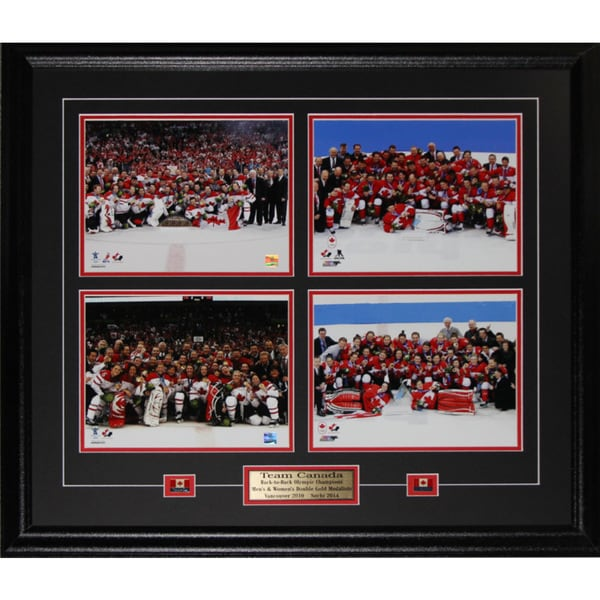 2014 2010 Team Canada Men and Women Gold Medal 4 Photo Frame