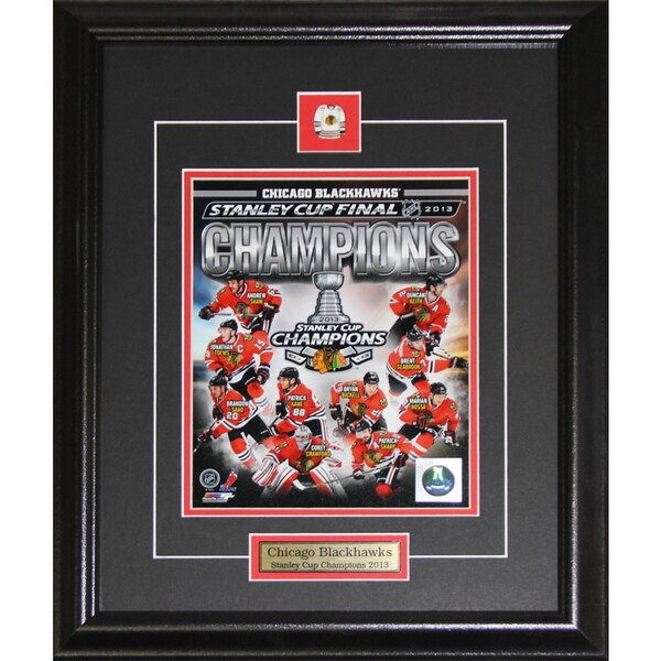 2013 Chicago Blackhawks Stanley Cup Compilation 8x10-inch Frame