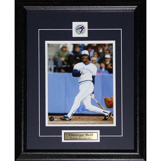 George Bell Toronto Blue Jays Signed 8x10-inch Frame