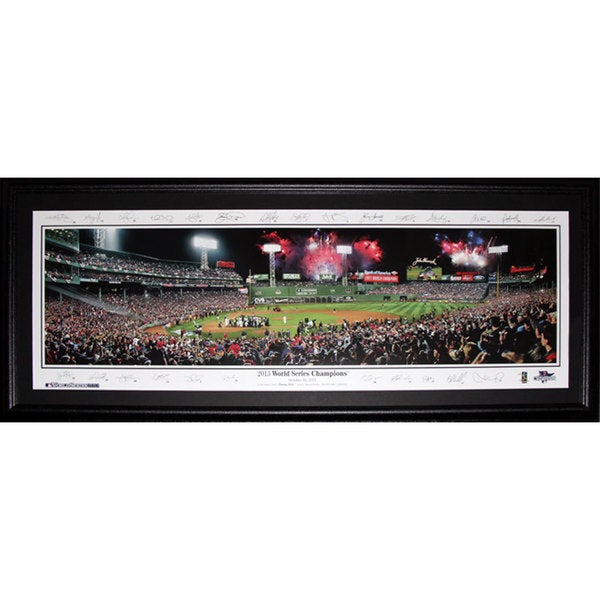 Shop Boston Red Sox Fenway Park 2013 World Series Champions Panorama ...
