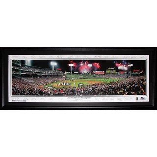 Boston Red Sox Fenway Park 2013 World Series Champions Panorama Frame