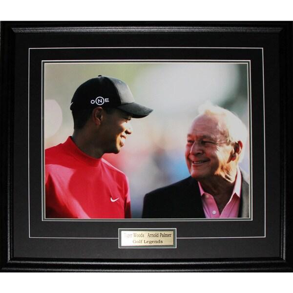 Arnold Palmer and Tiger Woods Pga Golf 16x20-inch Frame
