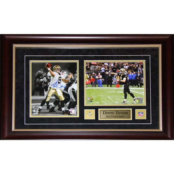 Drew Brees New Orlean Saints 2-photo Signed Frame