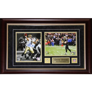 Drew Brees New Orlean Saints 2-photo Signed Frame