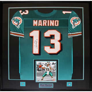 Shop Dan Marino Miami Dolphins Signed Jersey Frame Free