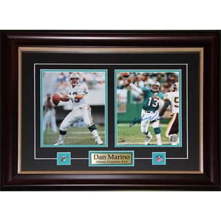 Dan Marino Miami Dolphins Signed 2-photo Frame