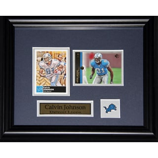 Calvin Johnson Detroit Lions 2-card Frame