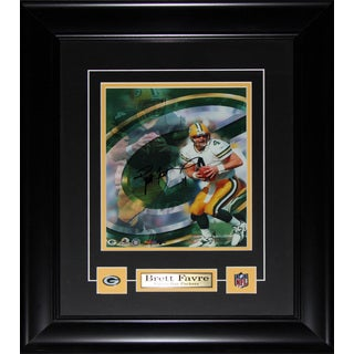 Brett Favre Green Pay Packers Signed 8x10-inch Frame