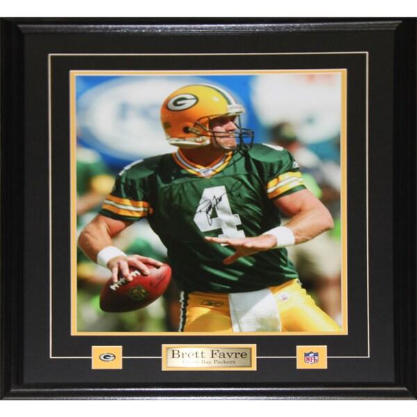 Brett Favre Green Bay Packers Signed 16x20-inch Frame