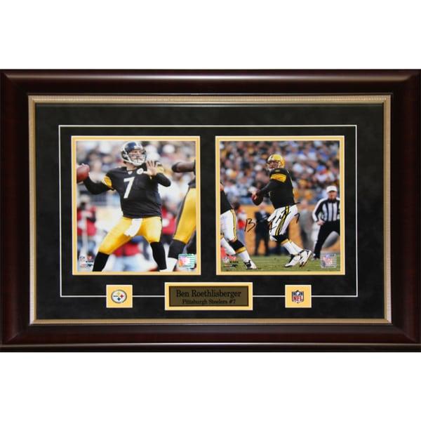 Ben Roethlisberger Pittsburgh Steelers Signed 2-photo Frame