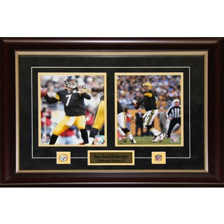 Ben Roethlisberger Pittsburgh Steelers Signed 2-photo Frame