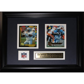 Barry Sanders Detroit Lions 2-card Frame