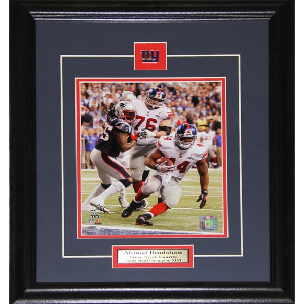 Ahmad Bradshaw New York Giants Superbowl 8x10-inch Frame