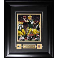 Aaron Rodgers Green Bay Packers Signed 8x10-inch Frame