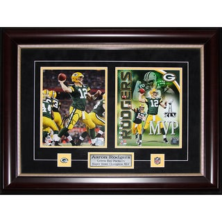 Aaron Rodgers Green Bay Packers Signed 2-photo Frame