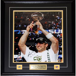Aaron Rodgers Green Bay Packers Signed 16x20-inch Frame