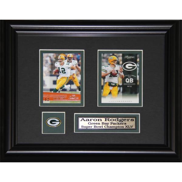 Aaron Rodgers Green Bay Packers 2-card Frame