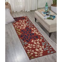 Nourison Caribbean Rust Indoor/ Outdoor Area Rug (2'3 x 7'6)