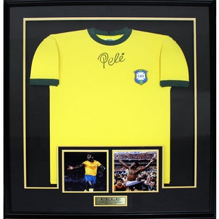 Pele Signed Brazil Jersey Frame