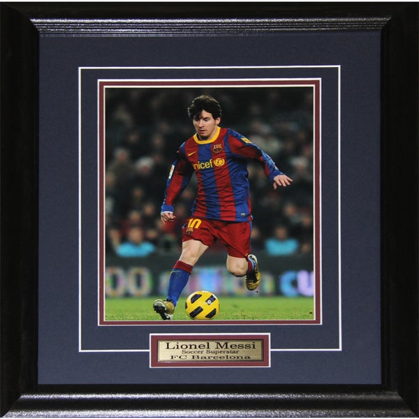 Lionel Messi Barcelona Fc Soccer 8x10-inch Frame