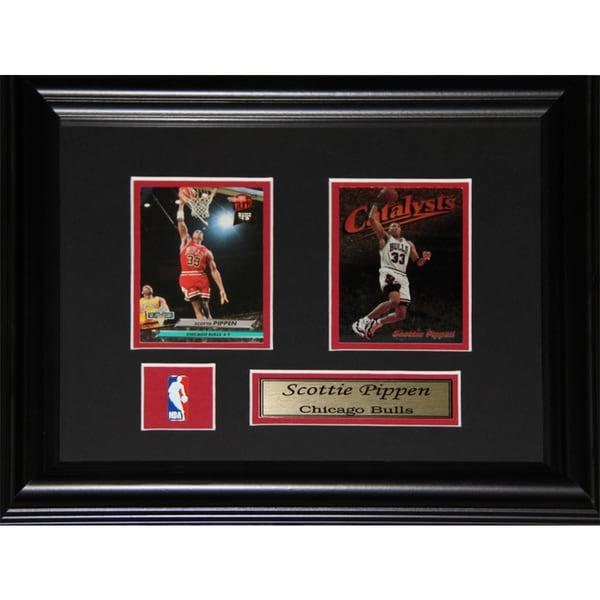 Scottie Pippen Chicago Bulls 2-card Frame