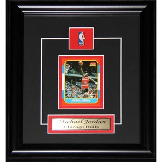 Michael Jordan Chicago Bulls Reproduction Rookie Card Frame