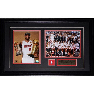 Lebron James Miami Heat 2013 Championship 2-photo Frame