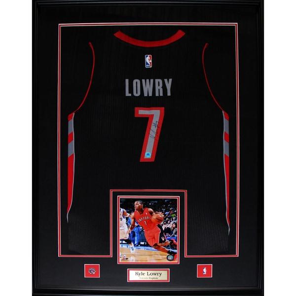 Kyle Lowry Toronto Raptors Signed Jersey Frame