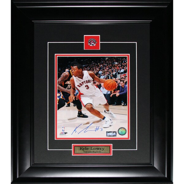 Kyle Lowry Toronto Raptors Signed 8x10-inch Frame