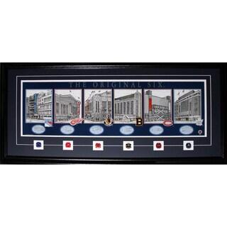 Original Six Arena's Lithograph Print Frame