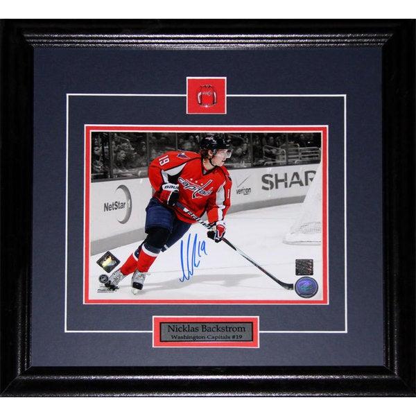 Nicklas Backstrom Washington Capitals Signed 8x10-inch Frame