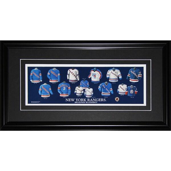 New York Rangers Jersey Evolution Frame