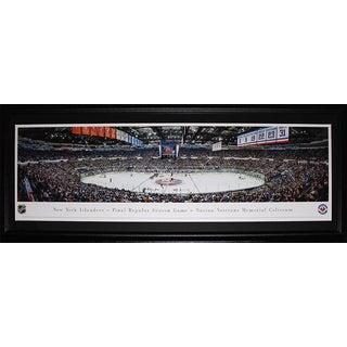 New York Islanders Nassau Veteran Memorial Coliseum Final Game Panorama Frame