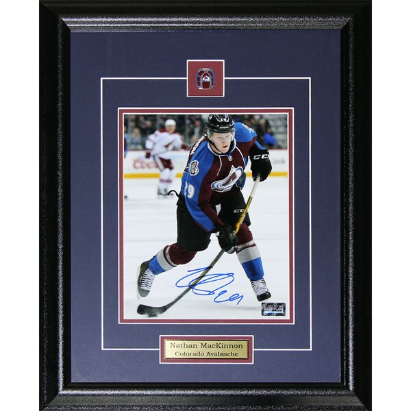 Nathan Mackinnon Colorado Avalanche Signed 8x10-inch Frame