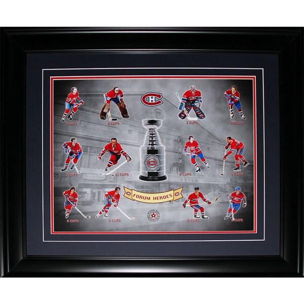 Montreal Canadiens Stanley Cup Vintage Forum Heroes 16x20-inch Frame