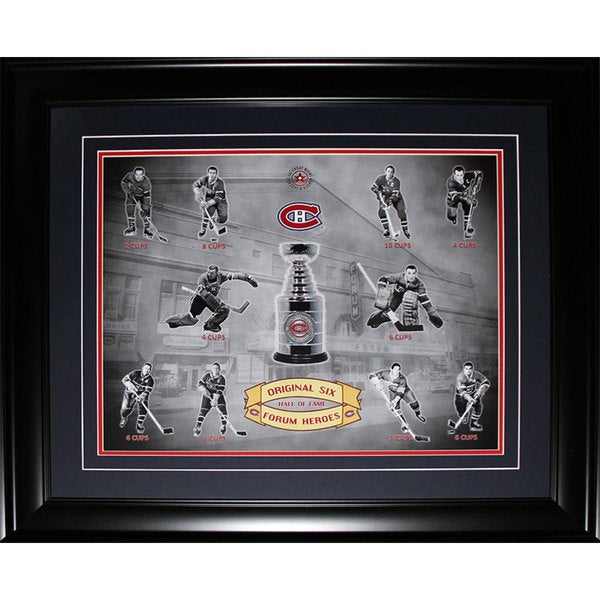 Montreal Canadiens Stanley Cup Forum Heroes 16x20-inch Frame