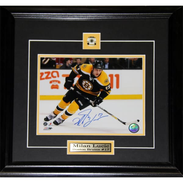 Milan Lucic Boston Bruins Signed 8x10-inch Frame