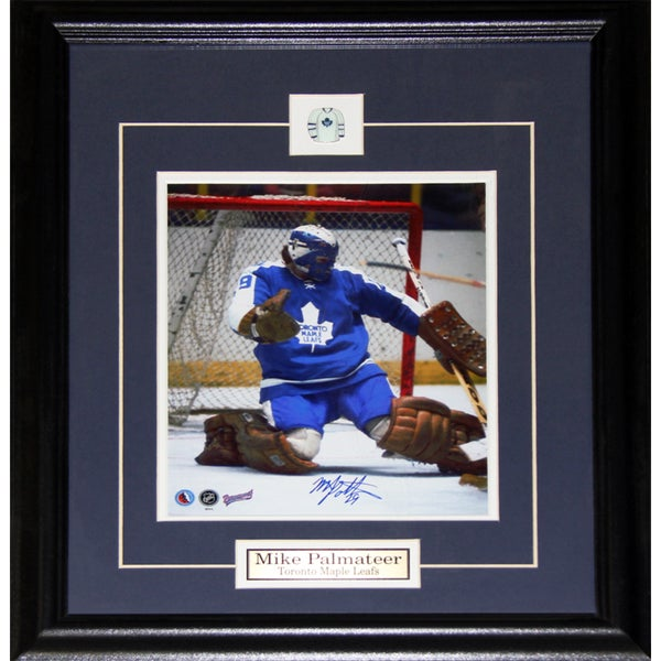 Mike Palmateer Toronto Maple Leafs Signed 8x10-inch Frame