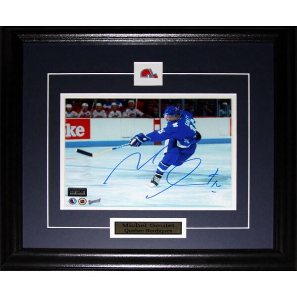 Michel Goulet Quebec Nordiques Signed 8x10-inch Frame
