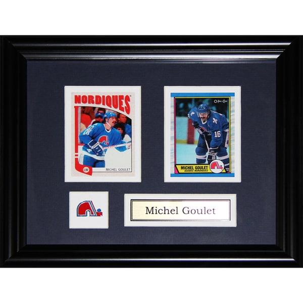 Michel Goulet Quebec Nordiques 2-card Frame