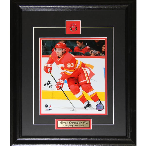 Michael Cammalleri Calgary Flames Signed 8x10-inch Frame