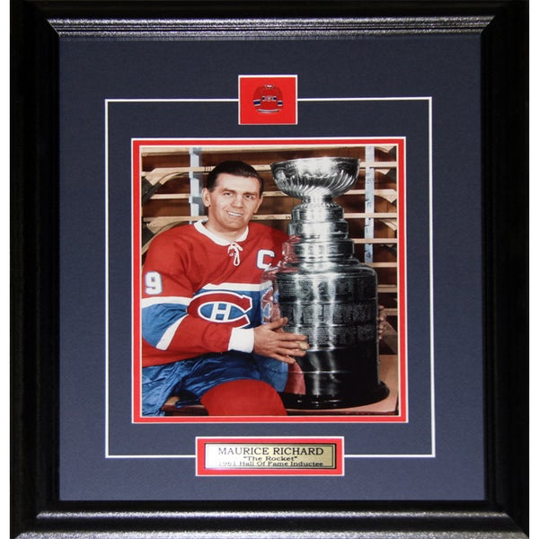 Maurice The Rocket Richard Montreal Canadiens Stanley Cup 8x10-inch Frame
