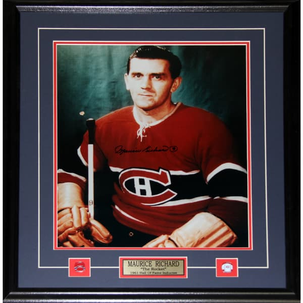 Maurice Richard Montreal Canadiens Signed 16x20-inch Frame