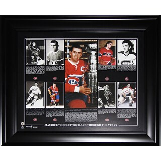 Maurice Richard Montreal Canadiens 16x20-inch Compilation Frame