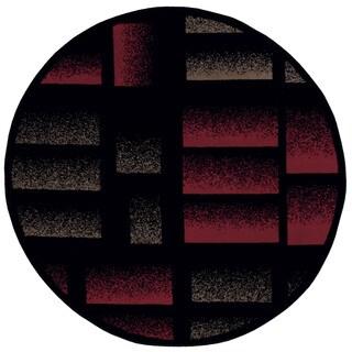 Nourison Modesto Black Rug (7'10 Round)