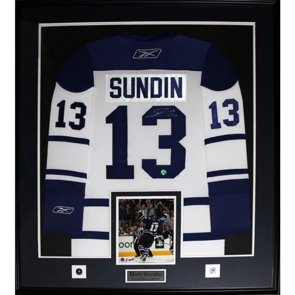 Mats Sundin Toronto Maple Leafs Signed White Jersey Frame